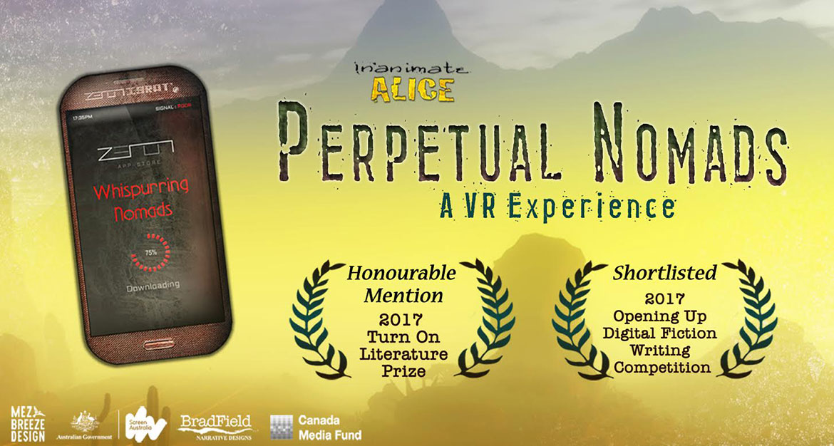 Inanimate Alice, Perpetual Nomads - a VR Experience