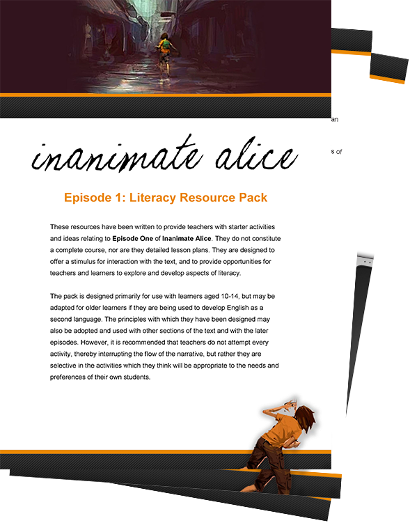 Inanimate Alice - starter activities for teachers