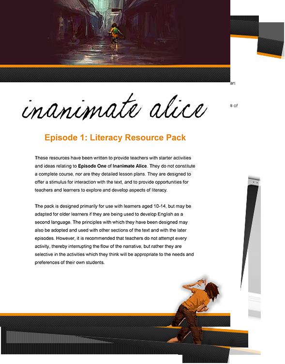 Inanimate Alice - Starter Activities (PDF)